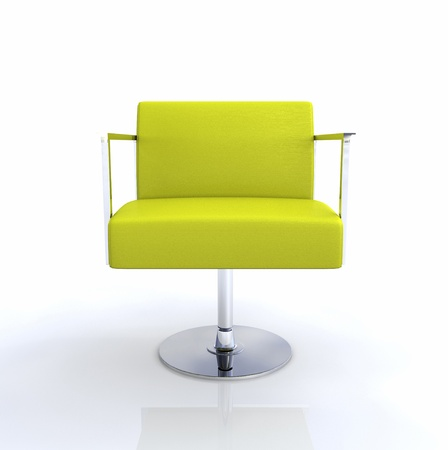 designer chair: Modern Designer Chair - Yellow Chrome