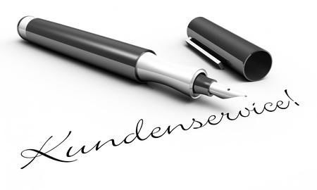 Customer Service - pen concept photo