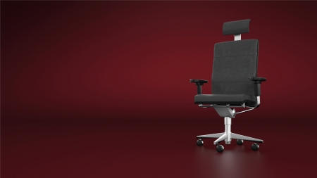 designer chair: Executive chair office chair - red background Stock Photo