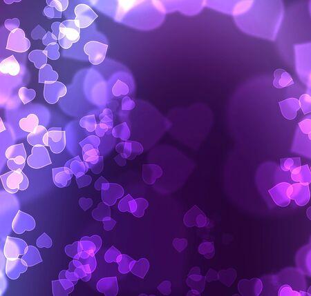 my dear: Gentile Violet Blue Bokeh
