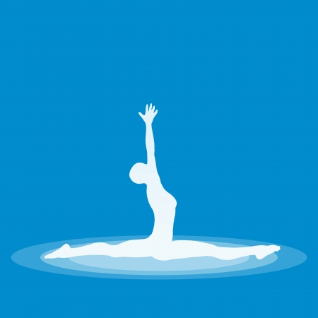 Yoga Pose Symbol - Blue 19 Stock Photo - 13944058