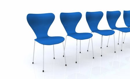 Designer chair set - Blue Stock Photo - 13944949