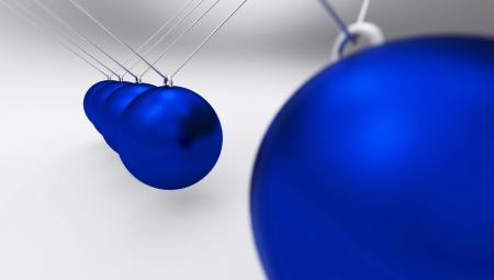 team spirit: Newton Pendulum blue gray 01