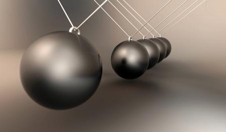 Aluminum sphere impact pendulum photo