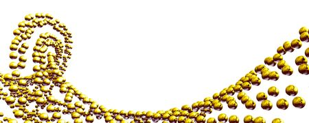 Abstract ball formation Gold Yellow 1 photo