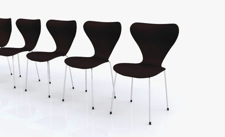 designer chair: Designer Chair Series - Black Stock Photo