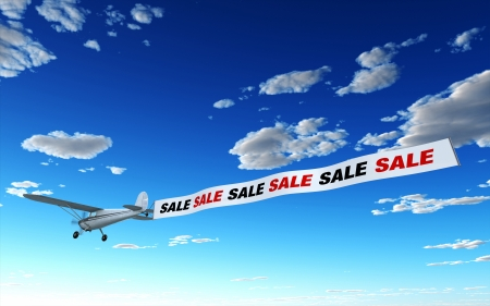 percentage sign: Airplane Advertising - SALE SALE SALE