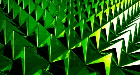 Background - Matrix Green pyramids photo
