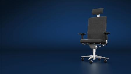 executive chair: Executive chair office chair - blue background