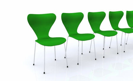 Designer Chair Series - Silver Green Stock Photo - 13944953