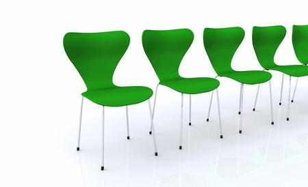 Designer Chair Series - Silver Green Stock Photo - 13944953