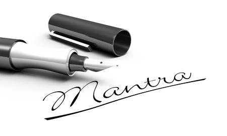 mantra: Mantra - pen concept Stock Photo