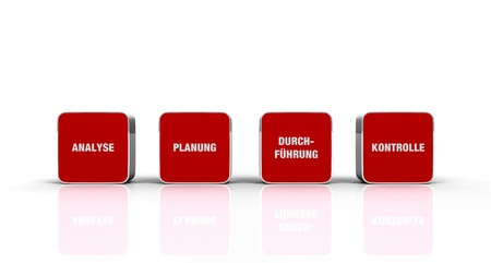 Red cube concept - analysis planning implementation control Stock Photo - 13944172