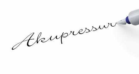 acupressure: Pen Concept - Acupressure Stock Photo
