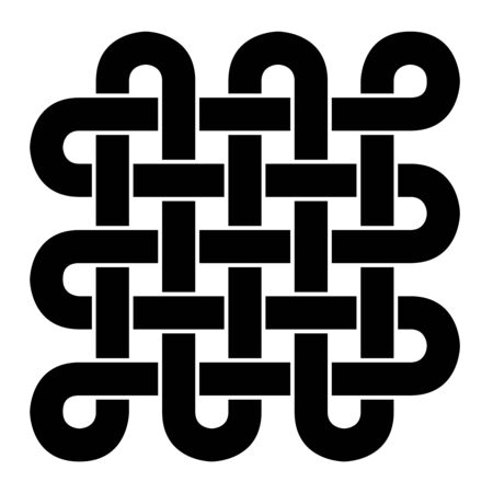 infinitely: Tibetan endless knot - Black and White
