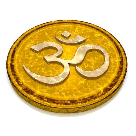3d aum: 3D - Magic Talisman gold OM sign