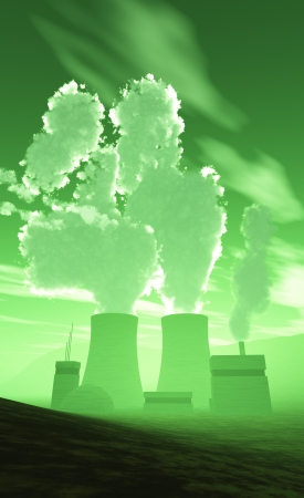 meltdown: 3D Nuclear Power Plant - The meltdown green