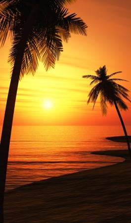 chillout: Mallorca Beach Sunset Chillout 01 Stock Photo