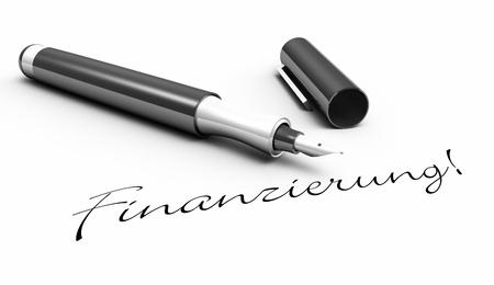 financing: Financing - pen concept Stock Photo