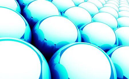 backplate: Balls Magic Matrix Background - Blue Stock Photo