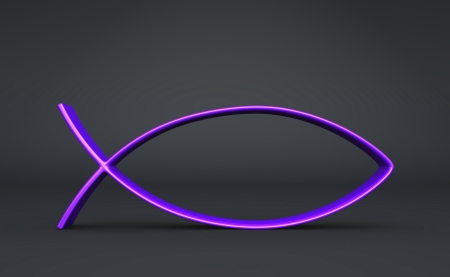 3D ICHTHYS violet to black photo