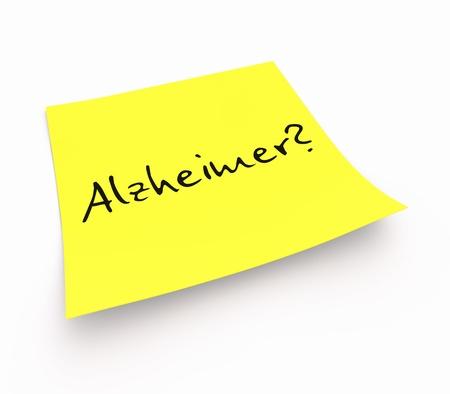 alzheimer's: Stickies - Alzheimer s Stock Photo