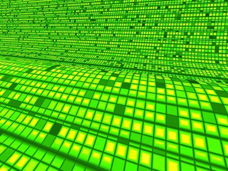 backplate: Matrix Green Wave Background