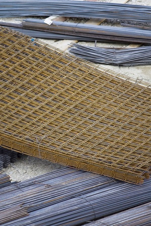 Steel mesh on building site Stock Photo - 14268898