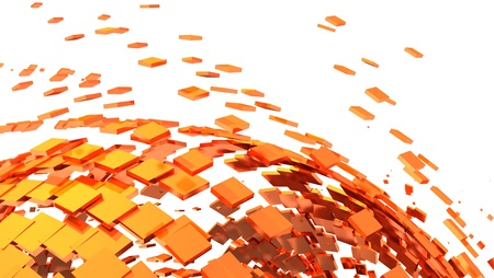 cuboid: 3D Background - Orange Cyberspace 01