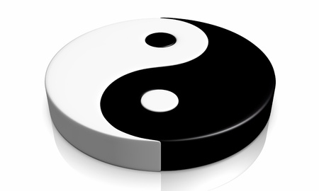 3D - Yin and Yang symbol 04 photo