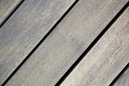 Old wooden floor terrace diagonally photo