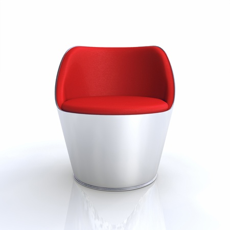 designer chair: Designer chair Silver Red 2