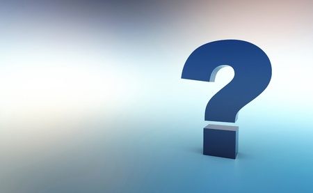 The big question Blue Silver Stock Photo - 14266764