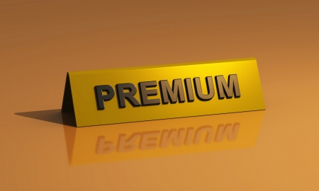 Premium Shield - Gold on Brown photo