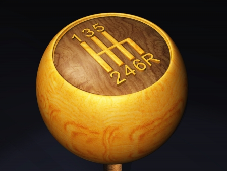 3D gear knob - Wood Retro
