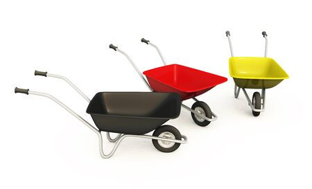 German wheelbarrows - black red gold 03 photo