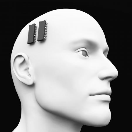 ic: 3D - ic brain pacemaker concept - 02 Stock Photo