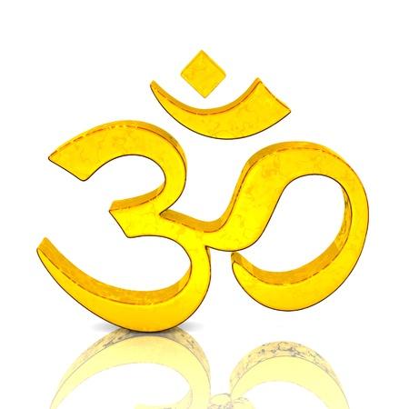 aum: 3D - Magic gold OM sign