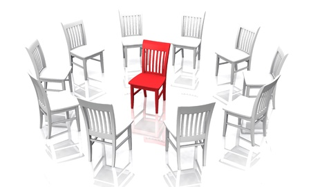 The Interrogation - White Red Stock Photo - 14316552