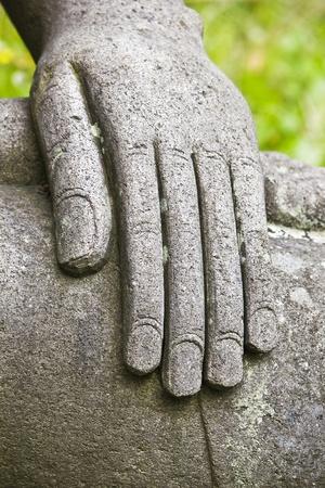 stone buddha: Hand of the stone Buddha