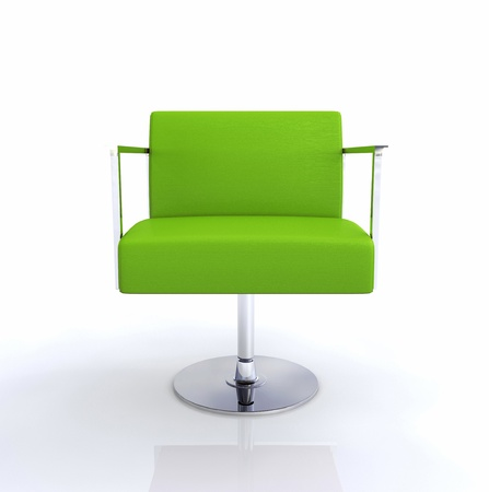 particularly: Modern design furniture - chromium green and white