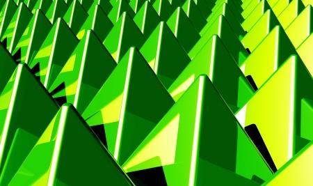 Background - Matrix Green 1 pyramids photo