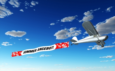 short sale: Airplane Banner - Summer Special