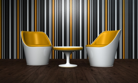 Relax Room Orange black Stock Photo - 14316642