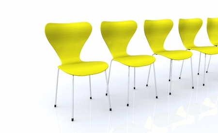 designer chair: Designer chair series - Yellow