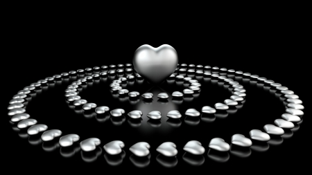 in the center of the heart - Black Chrome photo