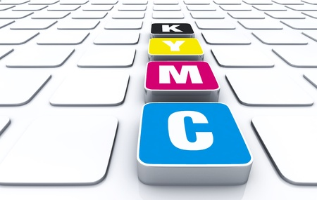 CMYK 3D Pad Stock Photo - 14317403
