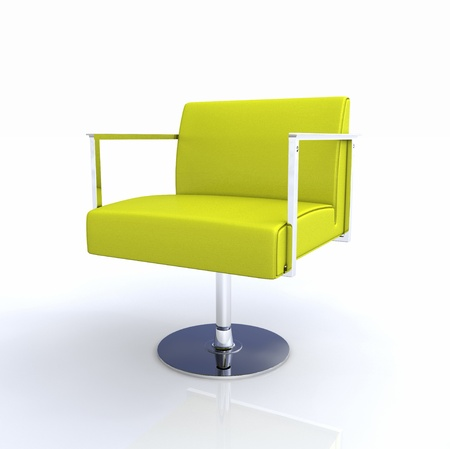 designer chair: Modern Designer Chair - Yellow Chrome 2