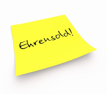 instruction sheet: Stickies - Ehrensold