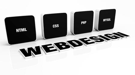 web presence internet presence: Web design portfolio concept Black 03
